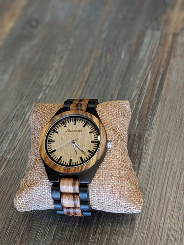 Alwoods wood watch. Two tone wood watch