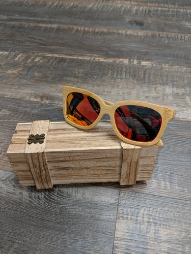 Light wood sunglasses
