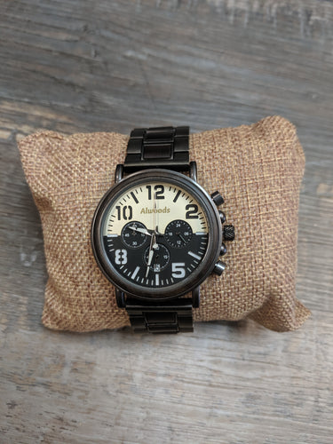 Alwoods watch. Metal and wood