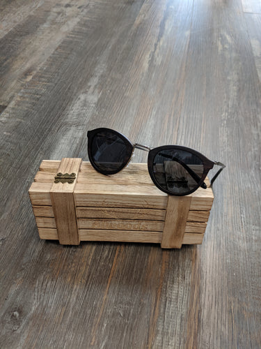 Lightweight dark wood sunglasses