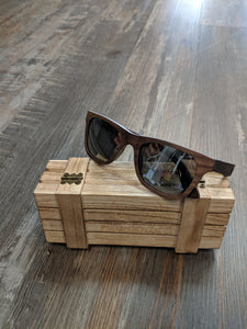 Shaped Brown wood sunglasses