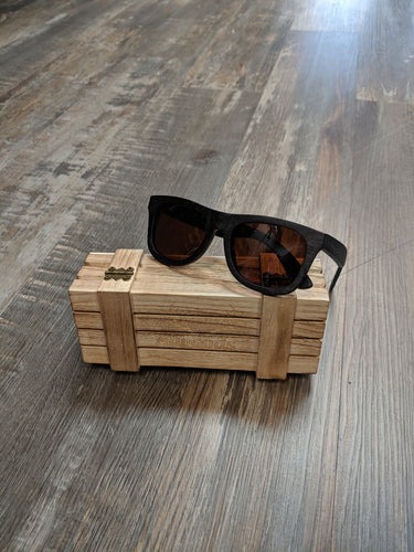 Dark brown wood sunglasses