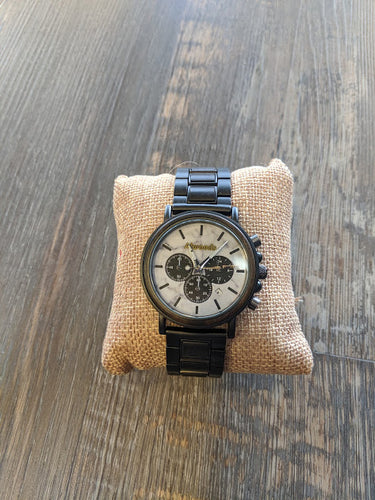 Alwoods metal and wood watch