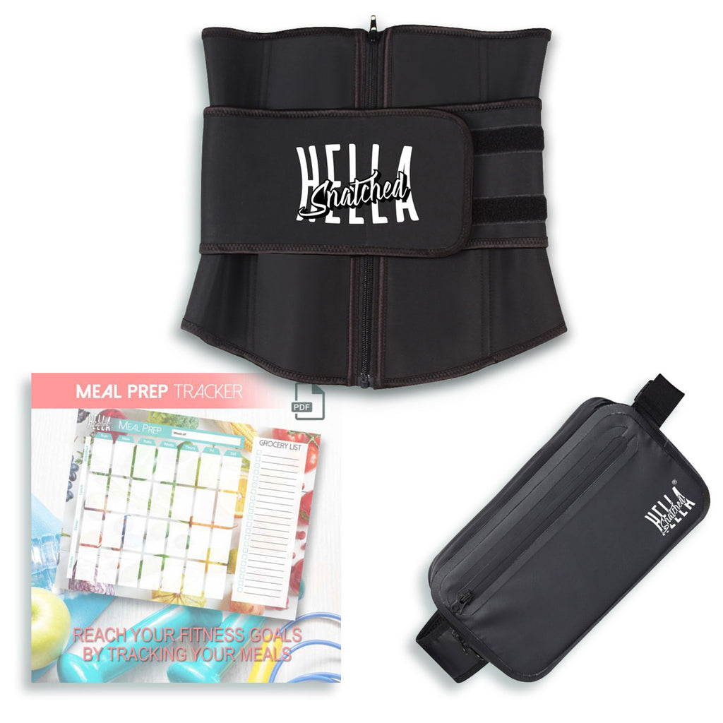 Fitness Waist Trainer + Shoulder Bag + Meal Prep Printable!
