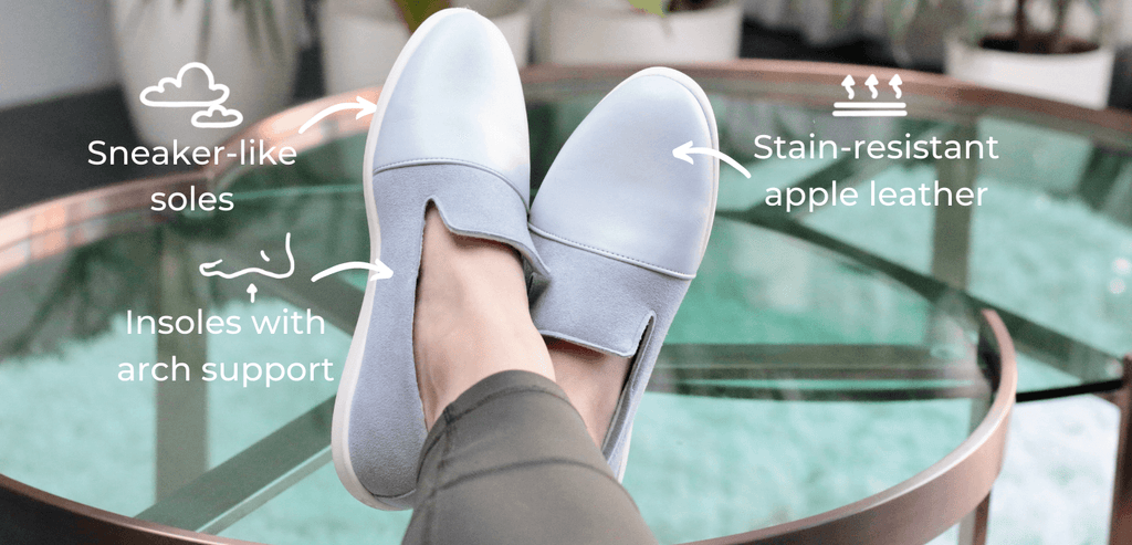 House shoes with arch support