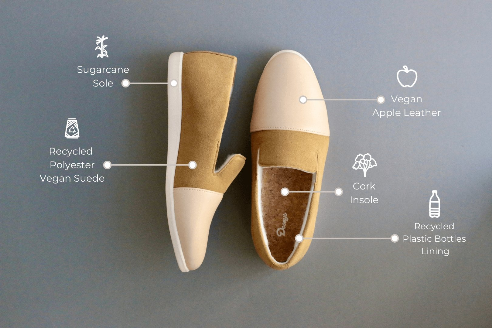 Women's House Shoes - Sustainable Slippers - Blush / Cinnamon Loafers