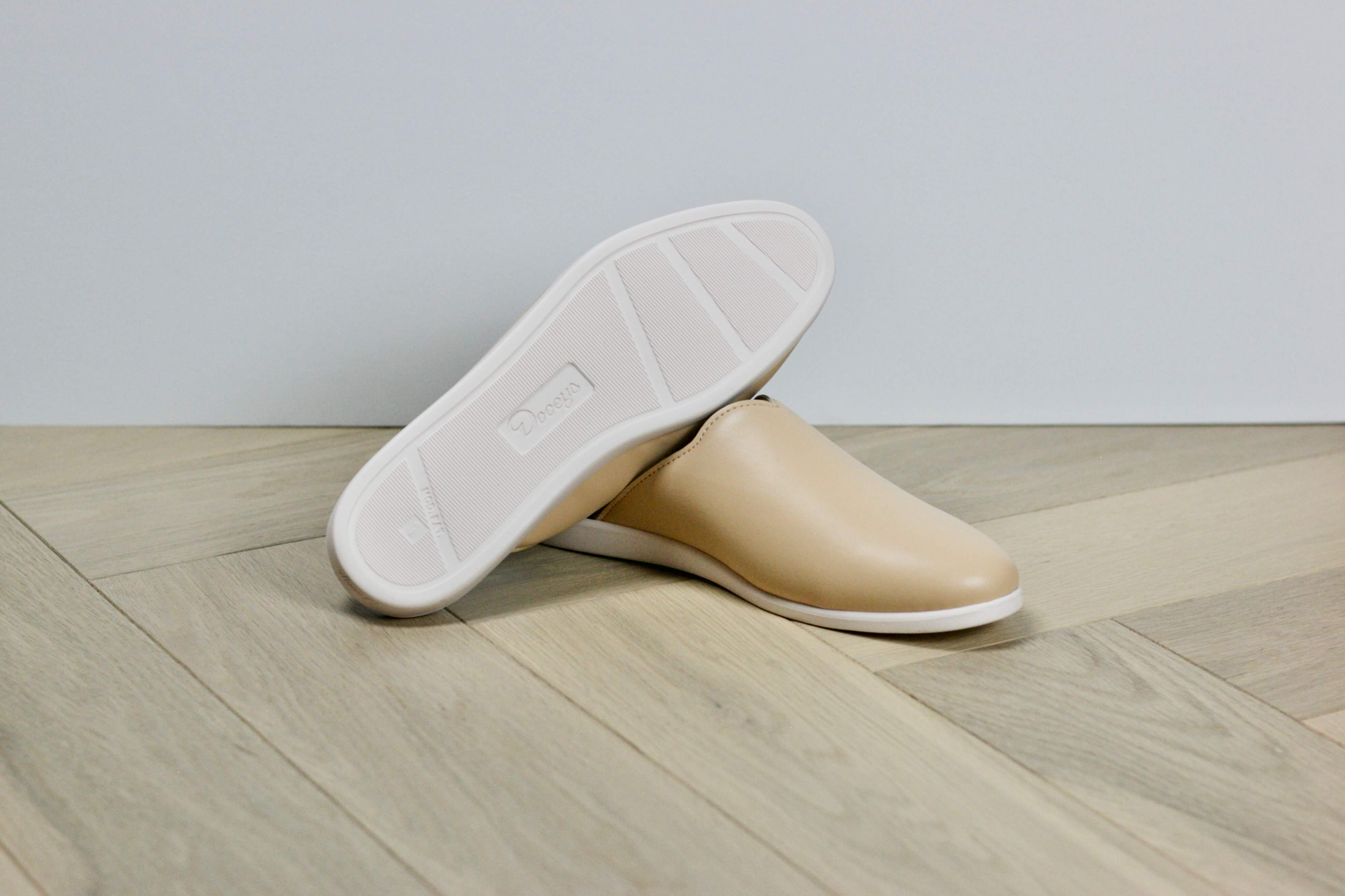 The Best House Shoes for Women - Honey Beige Mules