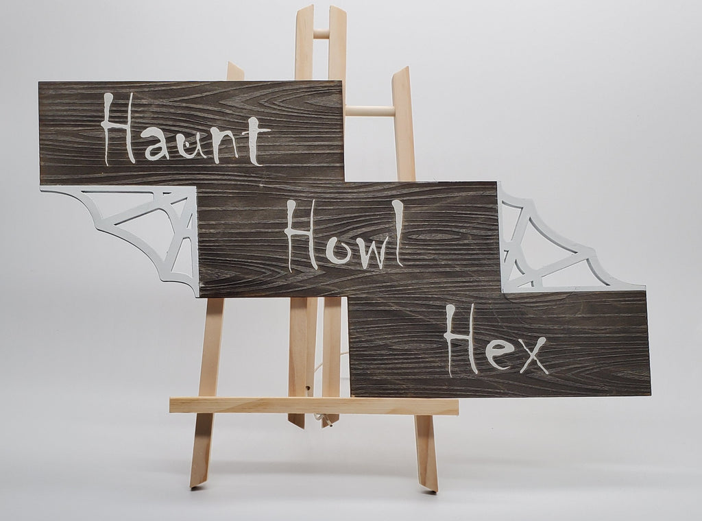 Haunt Howl Hex Wall Art (Glow in Dark)