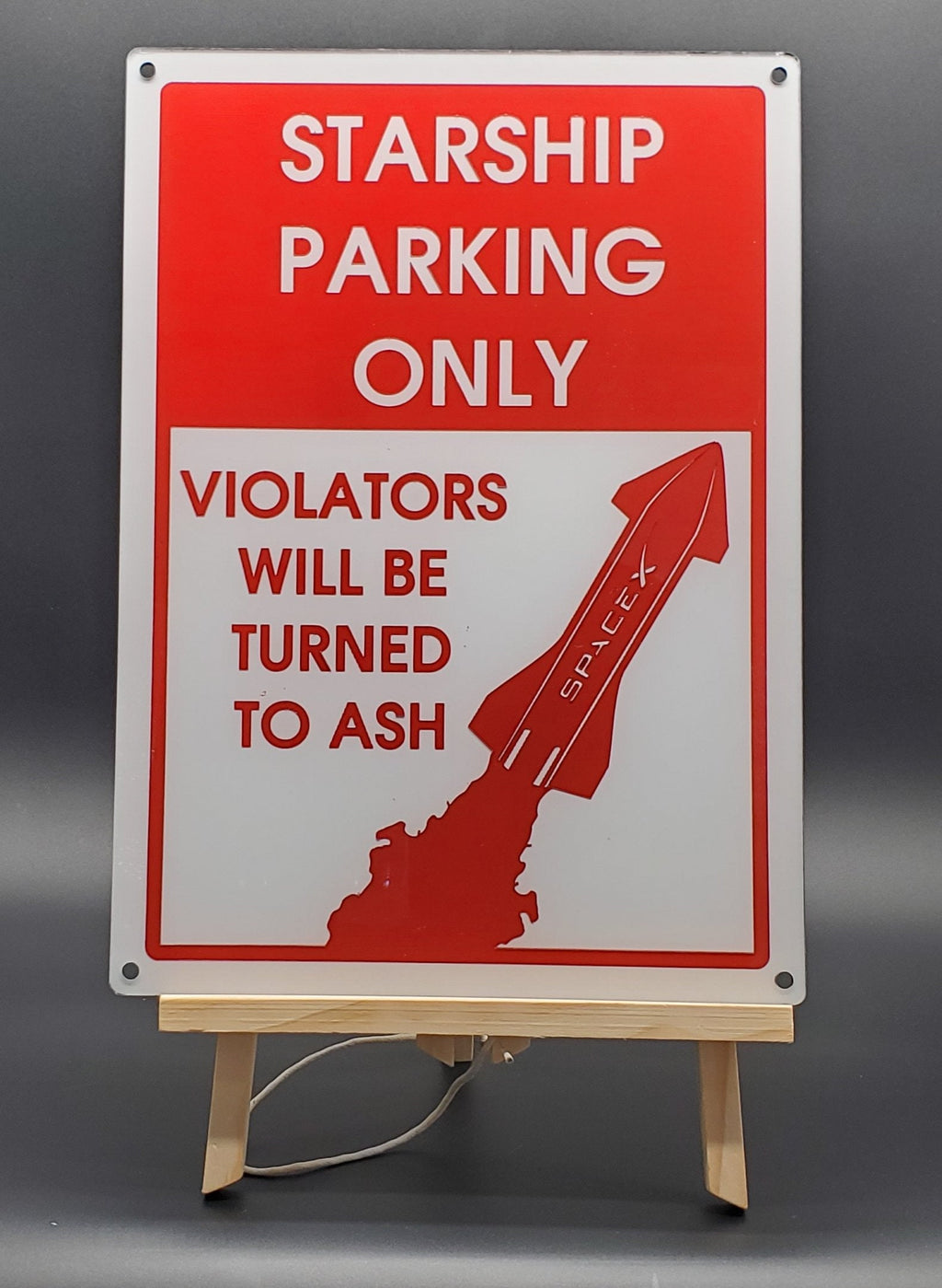 Starship Parking Only Sign