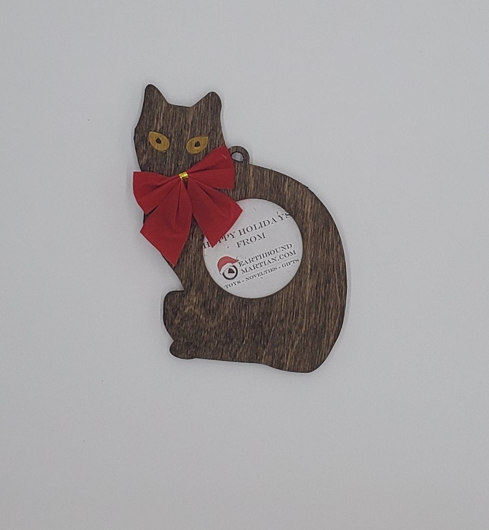 Black Cat Picture Frame Ornament