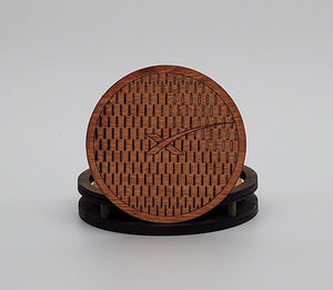 SpaceX Wooden Coaster (6 Pack) w/ Holder
