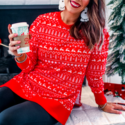 red holiday tunic