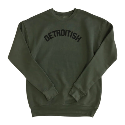 Unisex Detroitish crewneck- military green