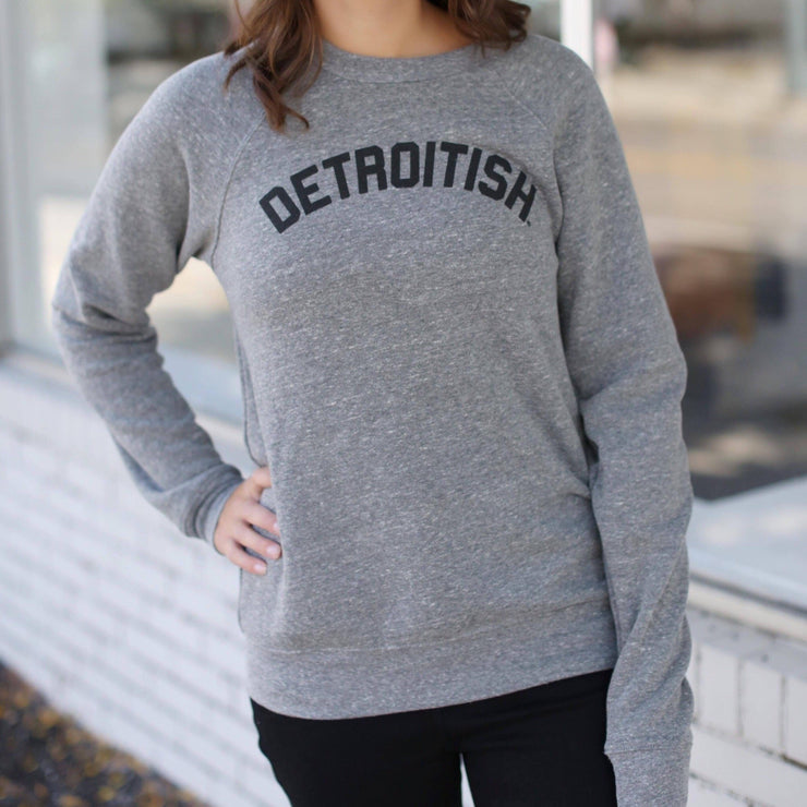 Unisex Detroitish crewneck- heather grey