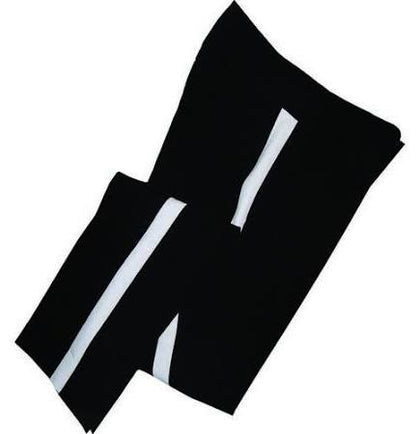 Black Pants with White Stripe