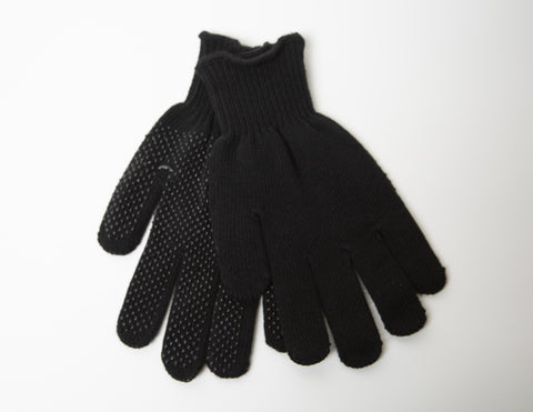 Manzella Black Knit Gloves