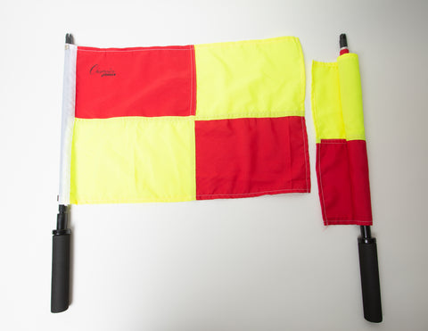 Checkered Red & Yellow Flags