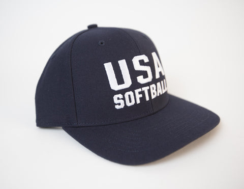 USA Softball Adjustable 6 Stitch Cap