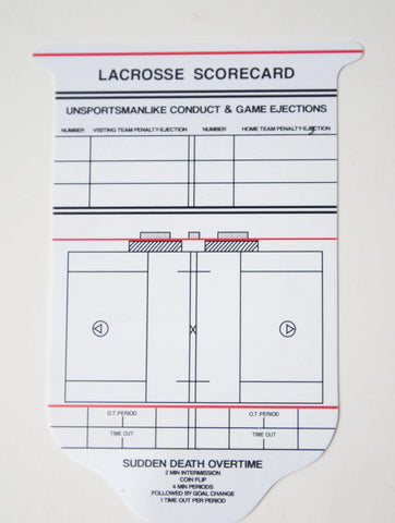 Lacrosse Reusable Game Card