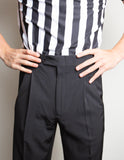Smitty Pleated Tapered Fit Referee Pants