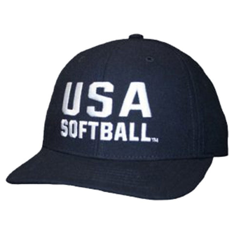 USA Softball Fitted 8 Stitch Cap