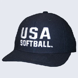 USA Softball Flex-fit 4 Stitch Cap