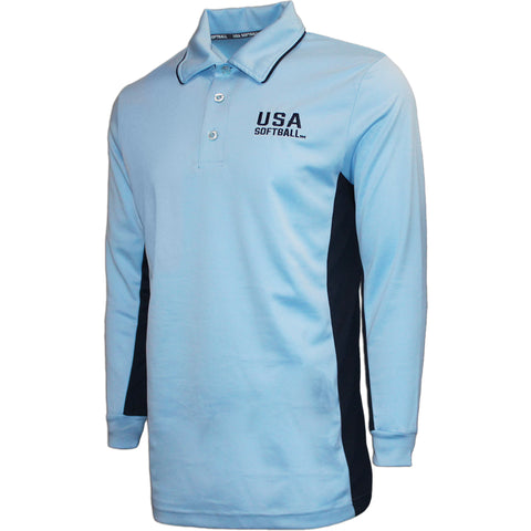 USA Softball Powder Blue Long Sleeve Shirt