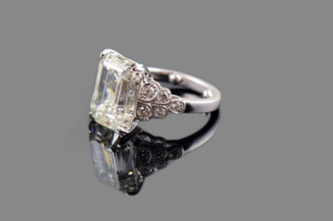 Emerald Cut with Side Detail