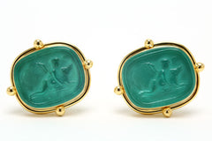 Venetian Glass Cameo Earrings
