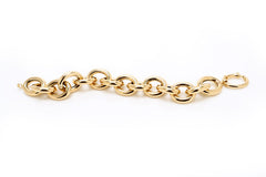 Large Yellow Gold Link Bracelet