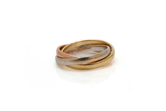 Tri-Color Gold Rolling Ring