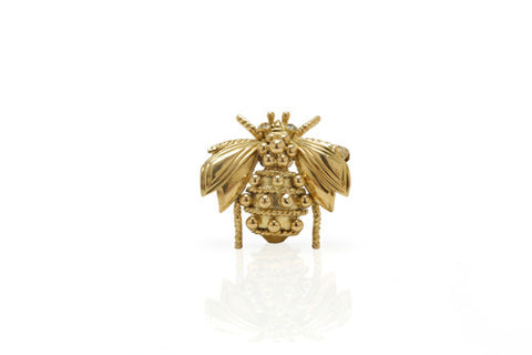 Bee Pin with Diamond Eyes