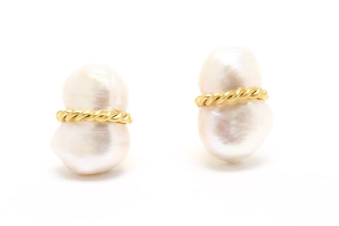 Peanut Pearl Earrings