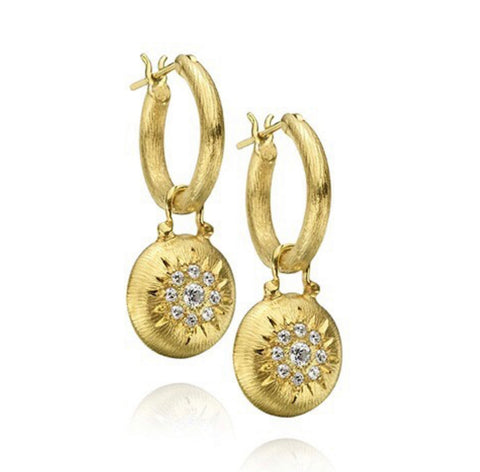 Florentine Finish Diamond Drop earrings