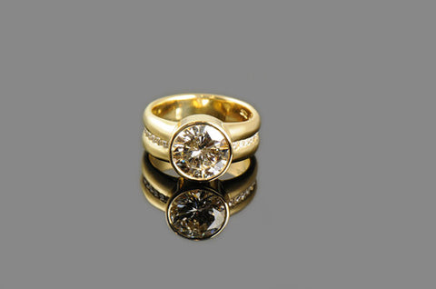 Gold Bezel Ring