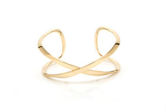 Yellow Gold X Cuff Bracelet