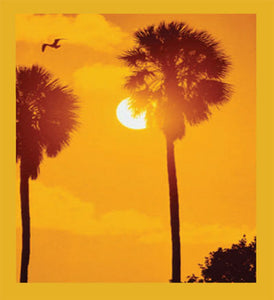 SKU : 00033 - Sabal Palms at Sunset - Magnetic Bookmark