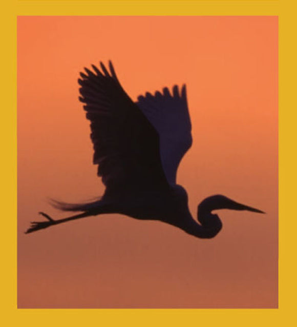 SKU : 00095 - Egret Silhouette at Sunrise - Magnetic Bookmark