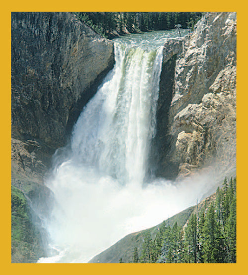 SKU : 01269 - Waterfall in Yellowstone - Magnetic Bookmark