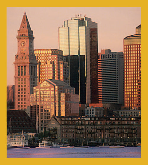 SKU : 01293 - Boston Waterfront - Magnetic Bookmark
