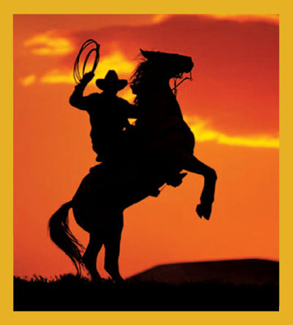 SKU : 01400 - Cowboy Silhouette - Magnetic Bookmark