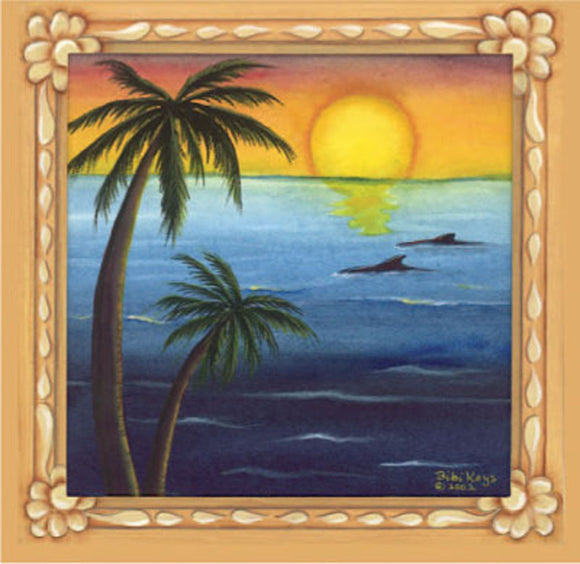 SKU : 02017 - Palms with Sunset - Magnetic Bookmark