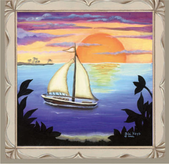SKU : 02022 - Ship & Sunset - Magnetic Bookmark