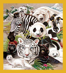 SKU : 06128 - Black & White Wildlife - Magnetic Bookmark