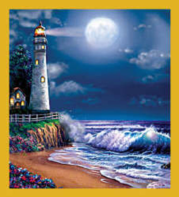 SKU : 06280 - Lighthouse at Midnight - Magnetic Bookmark