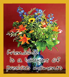 SKU : 06388 - Friendship is a Bouquet - Magnetic Bookmark