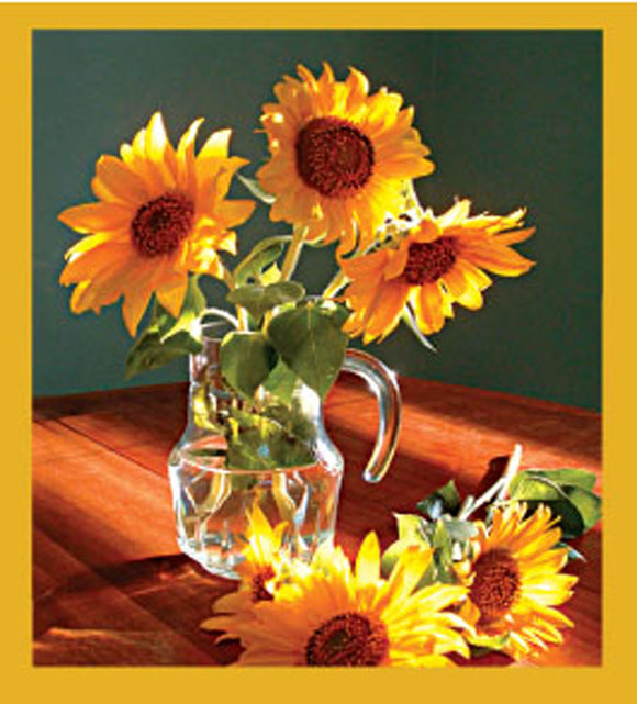 SKU : 06540 - Sunflowers Still Life - Magnetic Bookmark