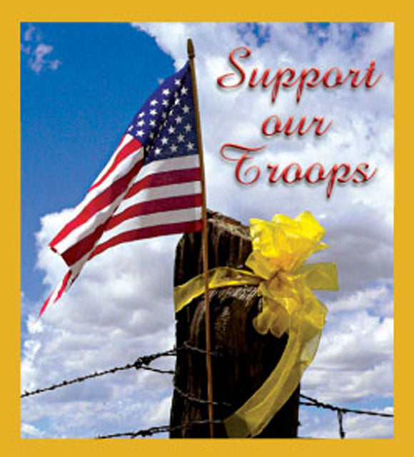SKU : 06600 - Support Our Troops - Magnetic Bookmark