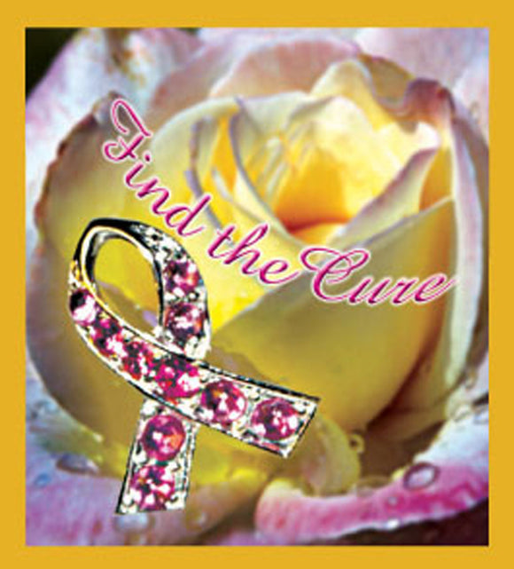 SKU : 06607 - Find the Cure Rose - Magnetic Bookmark