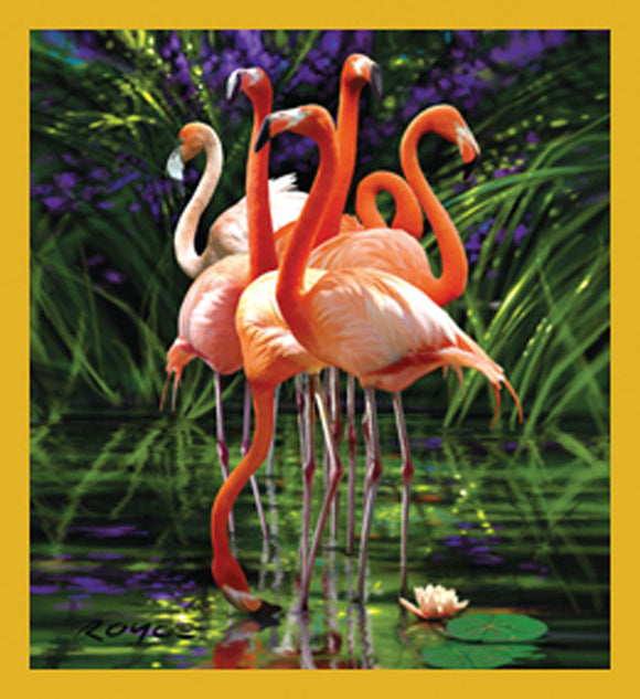 SKU : 07189 - Flamingos - Magnetic Bookmark